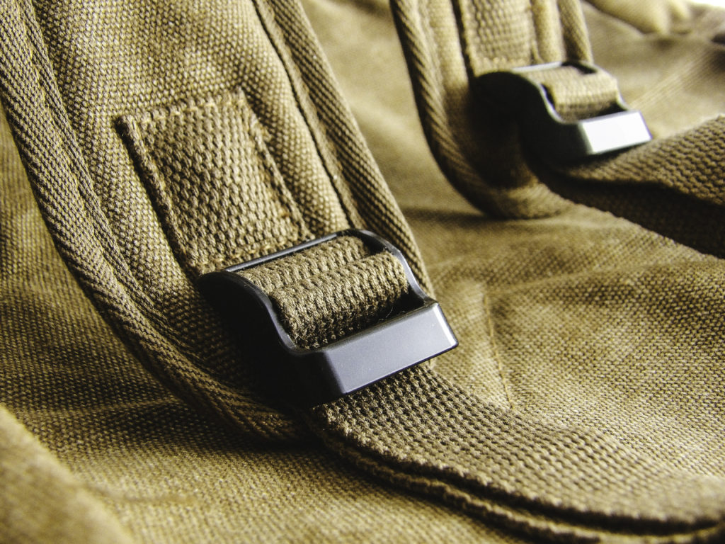 Reinforced stitching on padded shoulder straps