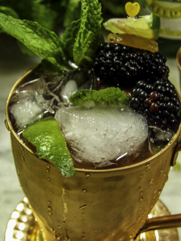 StyleChicks Summer Blackberry Moscow Mule in a Komojo Mug