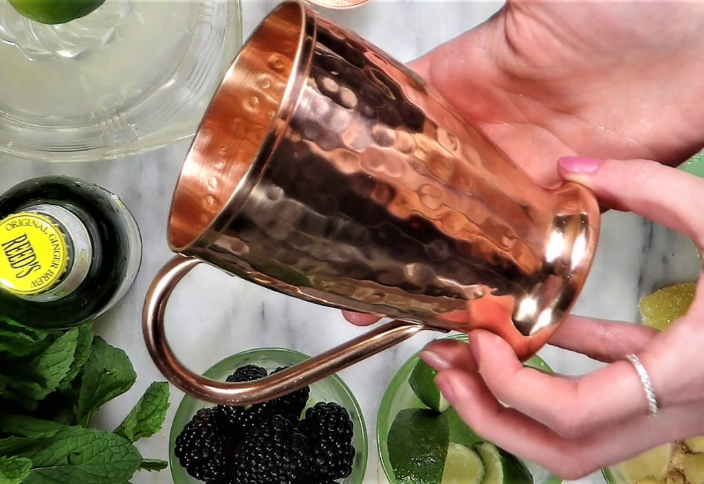 Komojo Pure Copper Moscow Mule mugs won't tarnish, have a hammered design and are 100% pure copper - no tin.