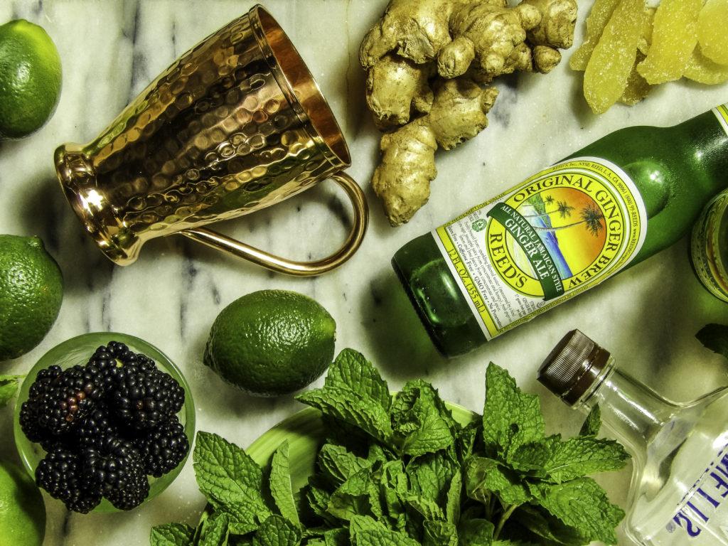 StyleChicks Summer Moscow Mule Ingredients include Blackberries & fresh ginger