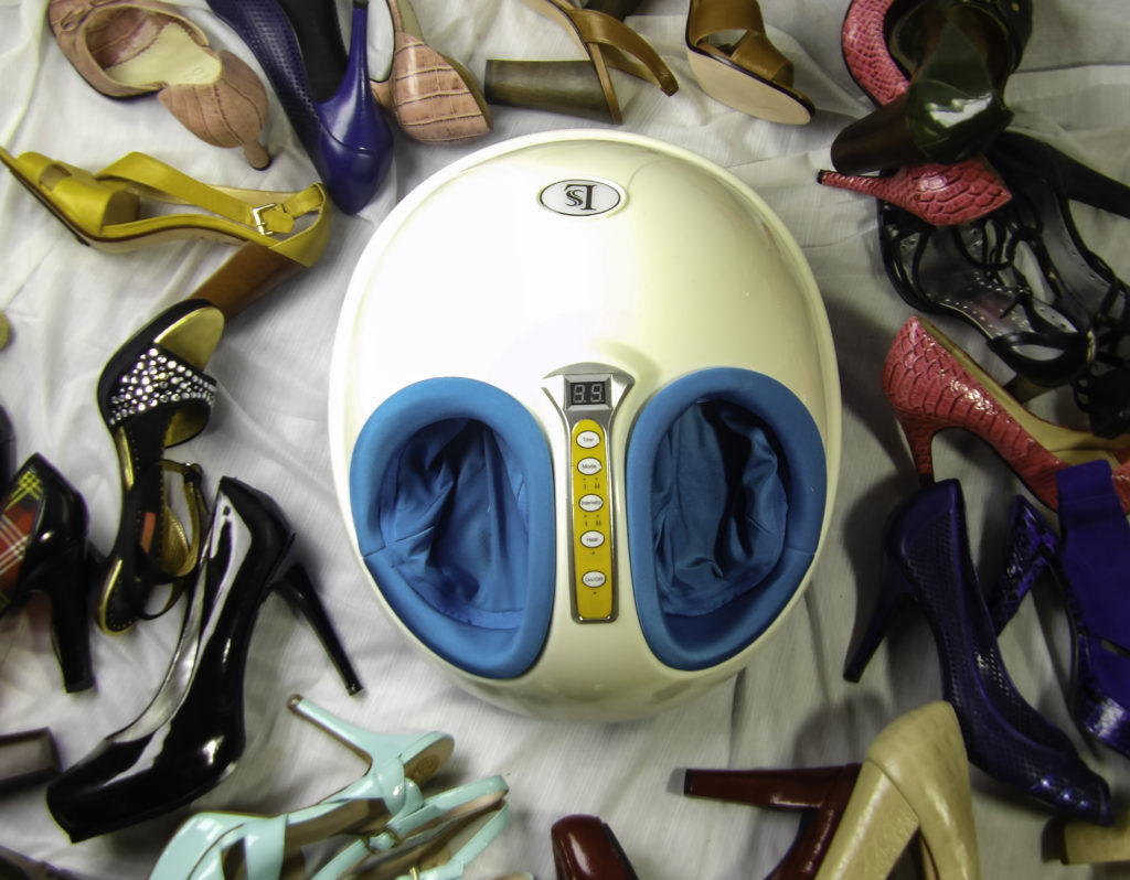 Love stiletto shoes but hate how they make your feet hurt? Try Wollin Shiatsu Foot Massager
