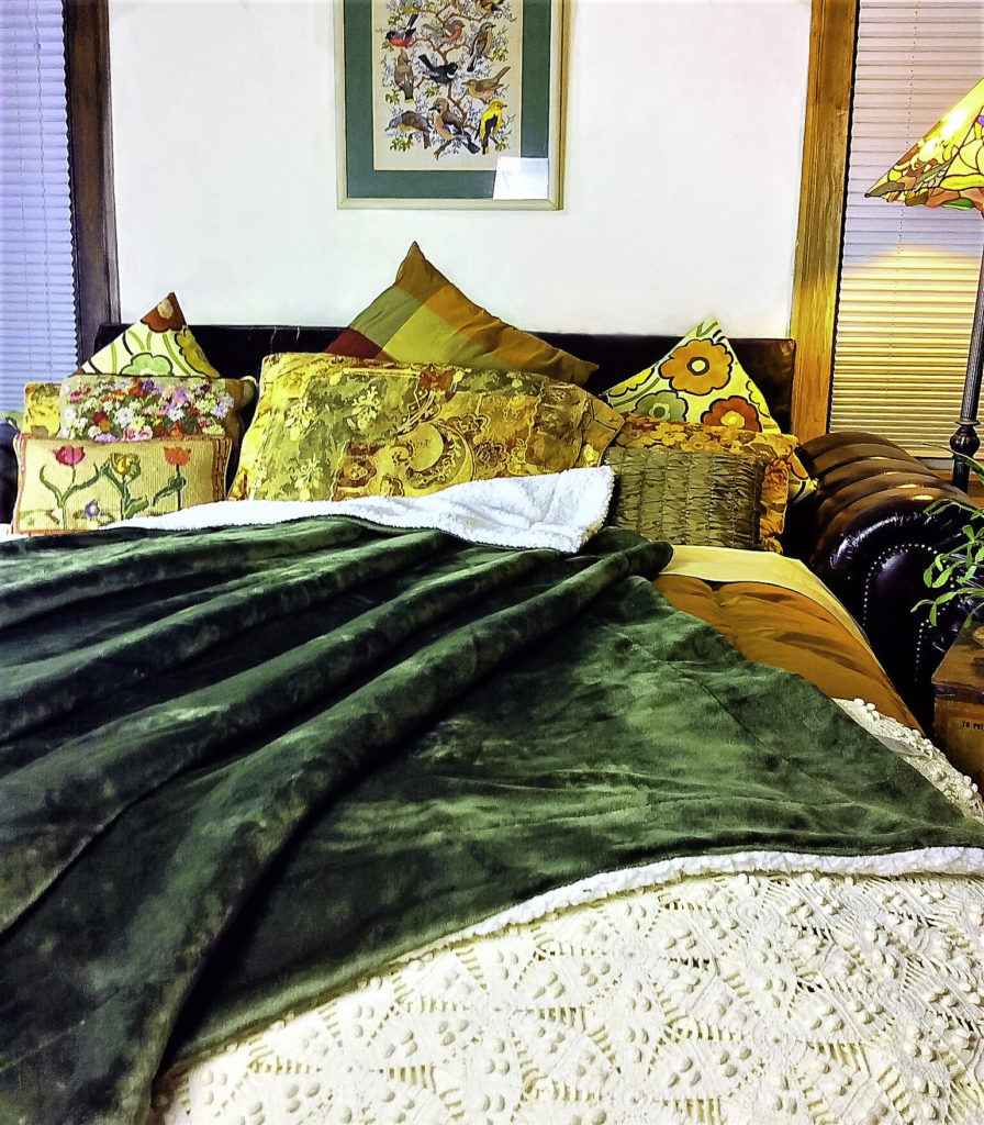 The Bedsure blanket adds warmth, color, and a luxurious look and feel to bedding