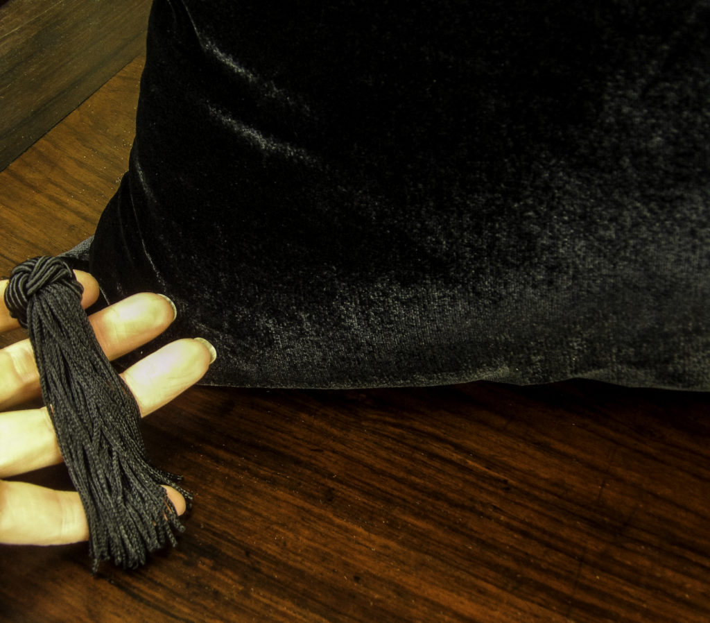 The tassels are charmingly knotted with generous fringes