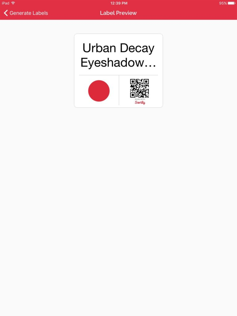 Quickly find the item you are looking for with Sortly's QR Code Labels