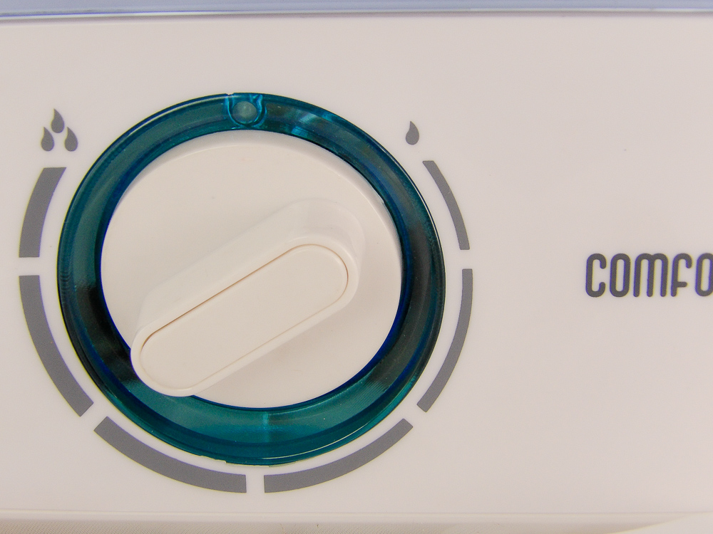 Plug it in and turn the dial to the desired output level