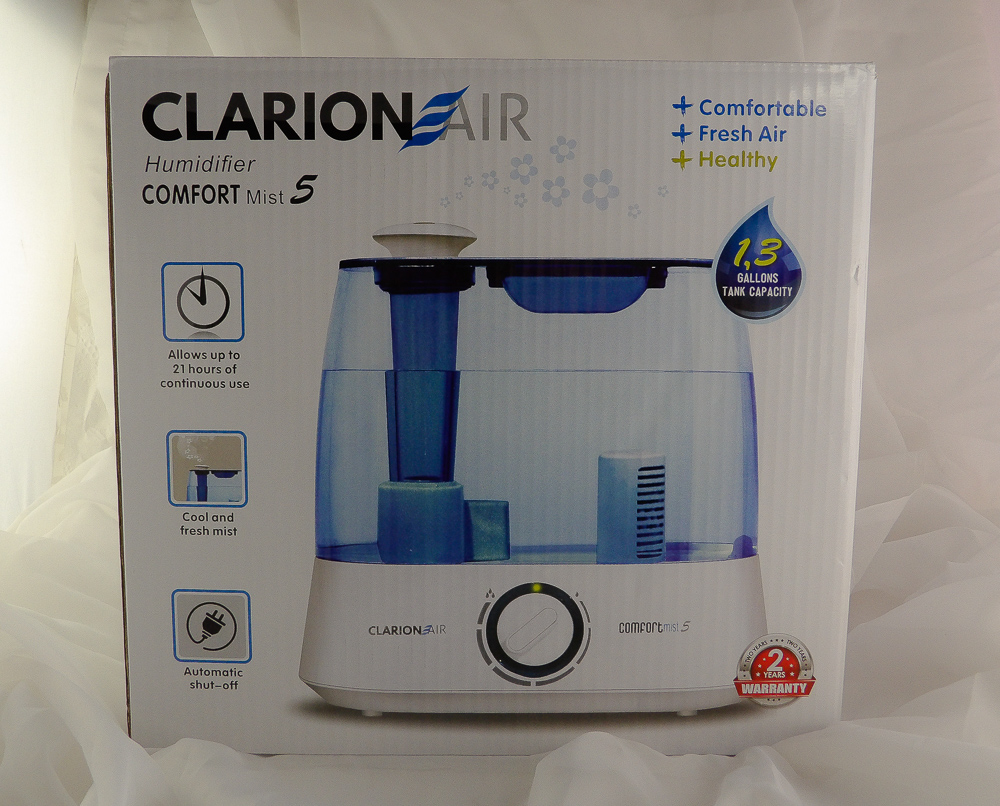 Clarion Air Ultrasonic Cool Mist Humidifier