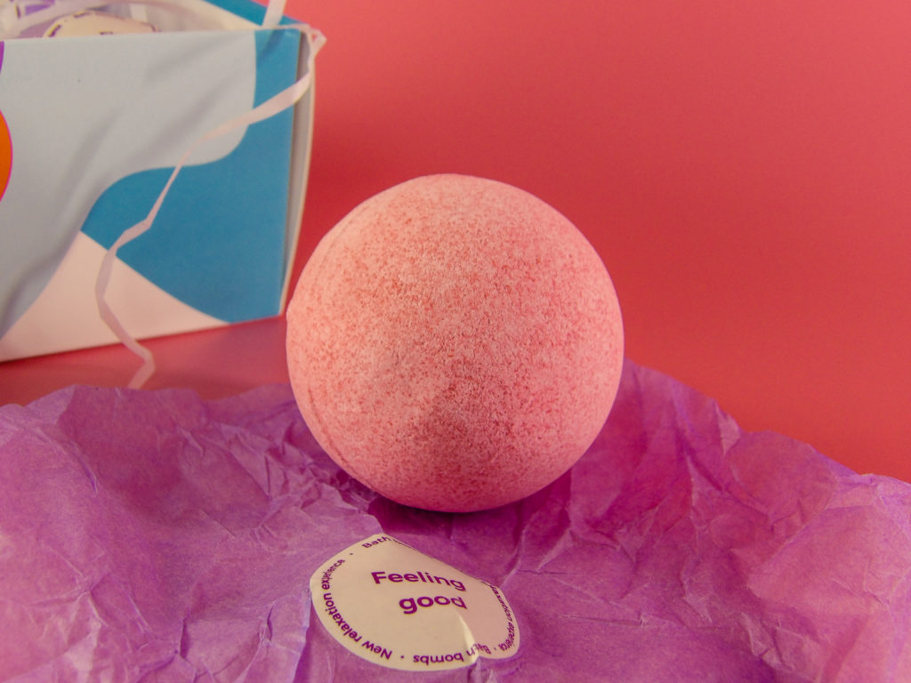 Each Bath Bomb comes in a secure inner plastic wrap and an outer colorful, cute gift tissue wrap with sticker