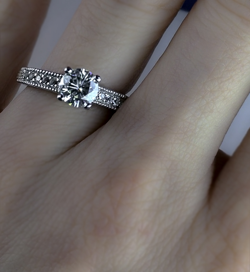 As seen worn on the ring finger