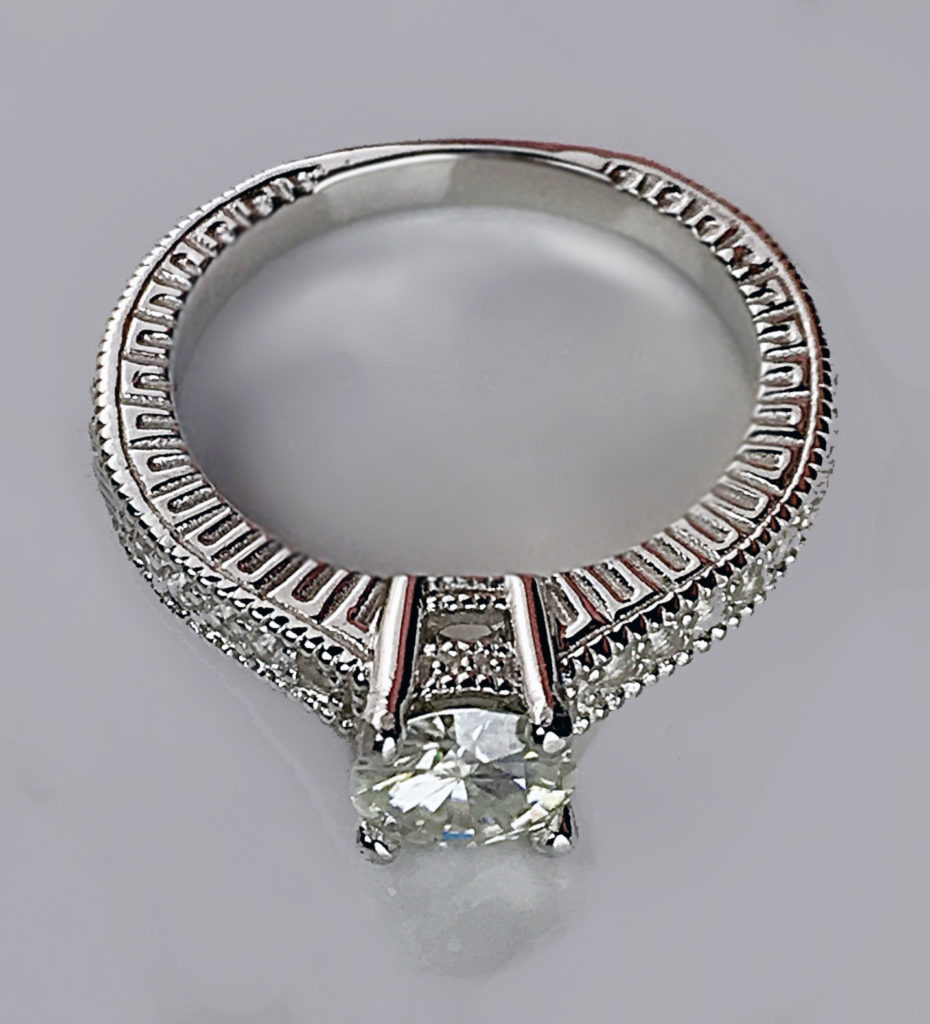 .925 Sterling Silver band pattern and setting