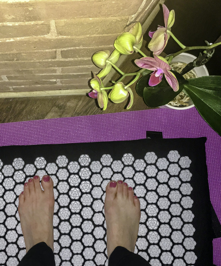 Try standing on the mat after a long day on your feet for instant foot relief