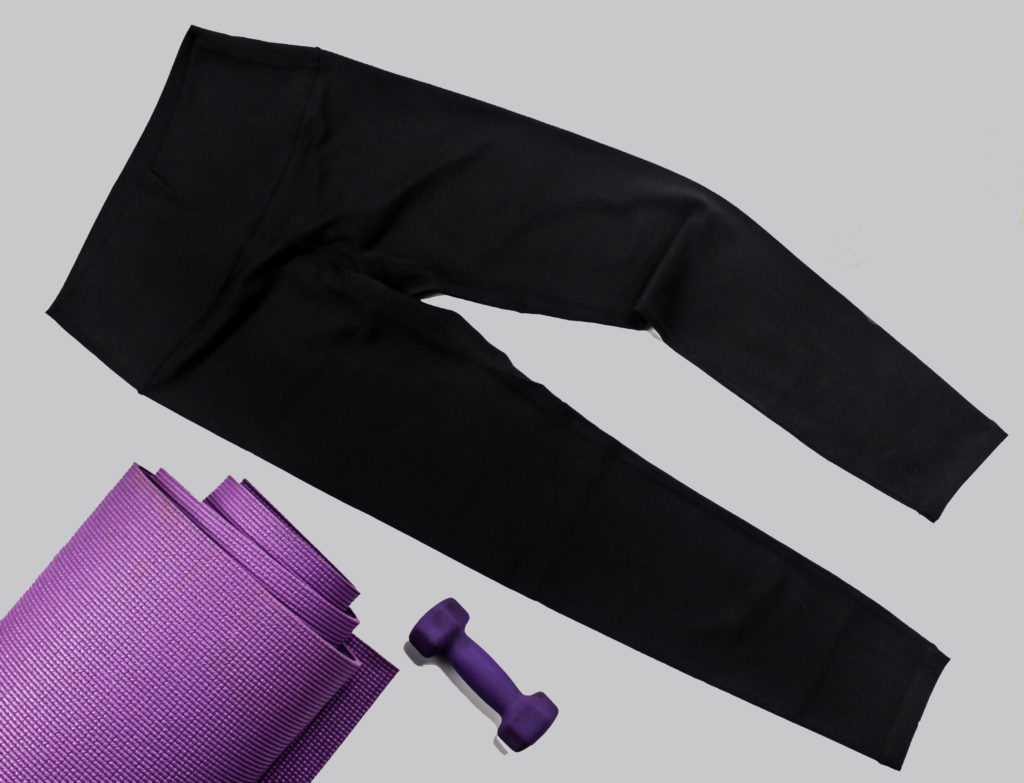 Yoga mat and Fantasfit High Waist Yoga Pants