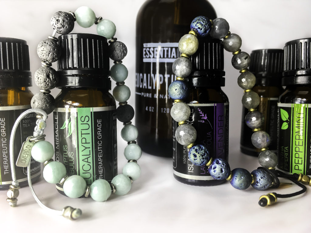 LovePray bracelets offer aromatherapy on the go. Apply the Essential oil of your choice to the lava beads