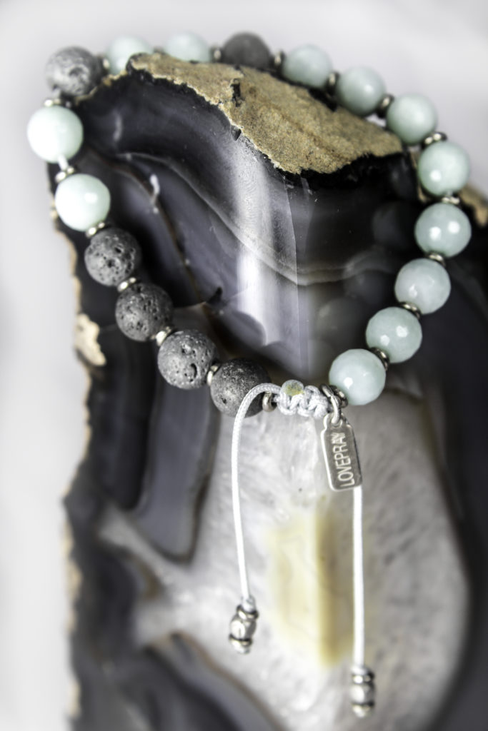 Amazonite LovePray bracelet with adjustable length
