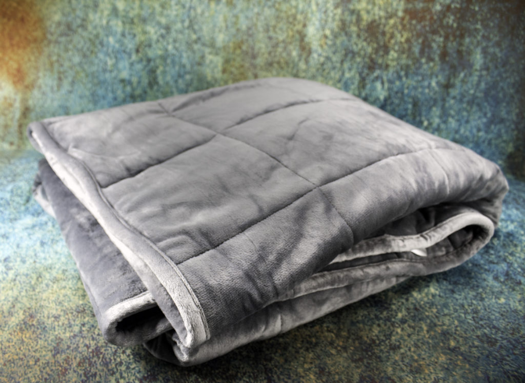 Even folded, the Sedona Weighted blanket is not bulky