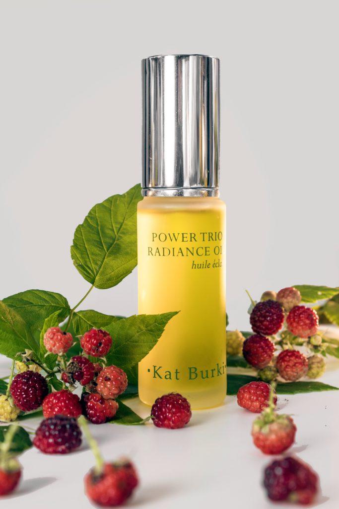 The Raspberry Seed oil in Kat Burki Power Trio Radiance Oil is a beauty powerhouse
