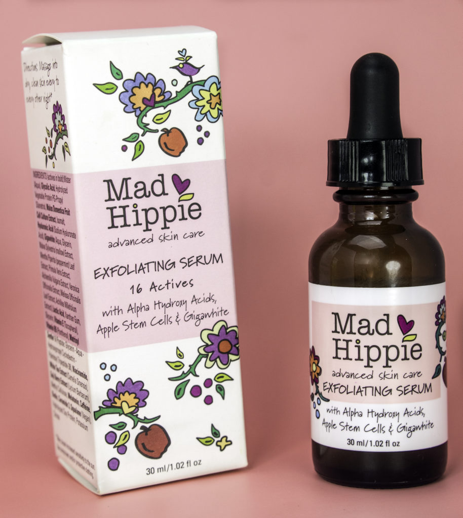 Mad Hippie Exfoliating Serum contains 16 actives for better skin
