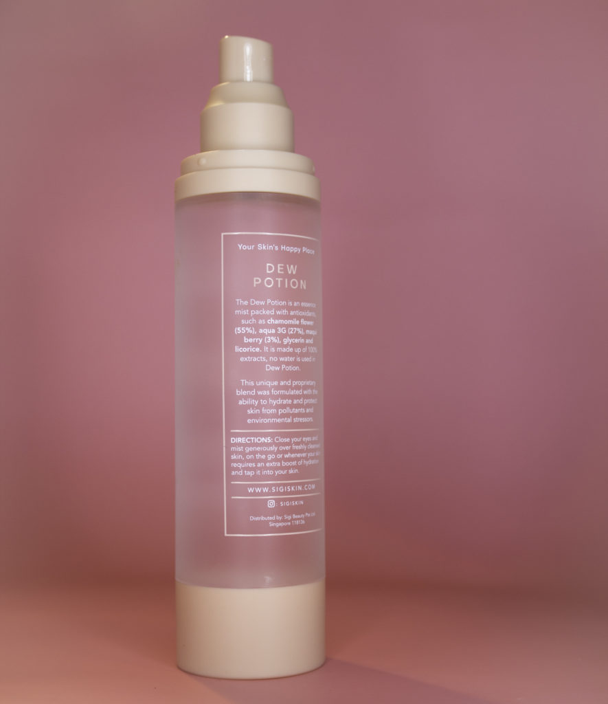 SigiSkin Dew Potion is packed with hydrating ingredients