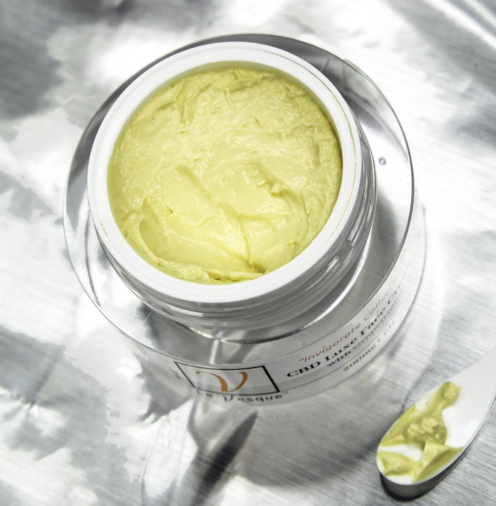Le Vesque CBD Luxe Face Cream contains full-spectrum CBD