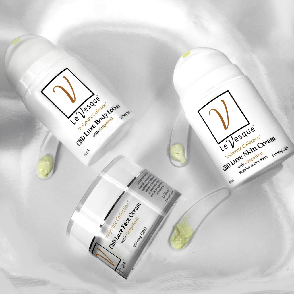 Luxury skin care from the Le Vesque Invigorating Collection
