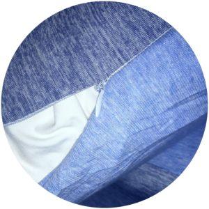 Hidden zipper on pillowcases
