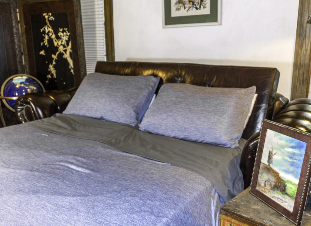 LUXEAR Cooling Blanket and pillowcases, featuring Cool-to-Touch Technology