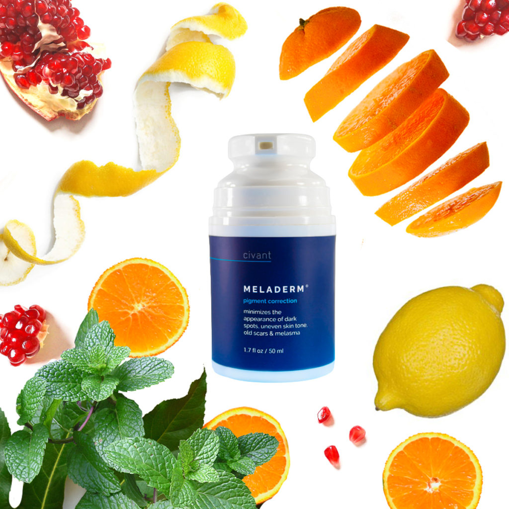 Civant Meladerm Pigment Correction uses natural ingredients to counteract discoloration